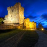 15th Century Ross Castle at night