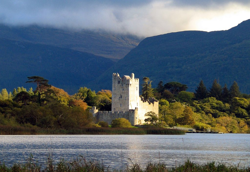 15th Century Ross Castle viewed from Killarney National Park